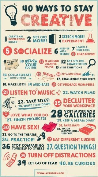 #2 - Get out more to stay creative.