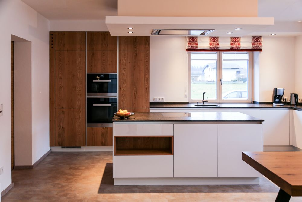 k che wei und eiche kitchens pinterest eiche k che und k chen m bel. Black Bedroom Furniture Sets. Home Design Ideas