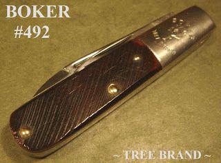Knives 4sale Boker 492 Tree Brand Barlow Usa Sawcut Red