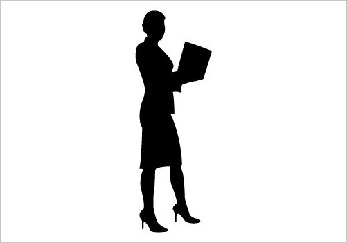 Business Women Vector Illustration Silhouette Corporate ...