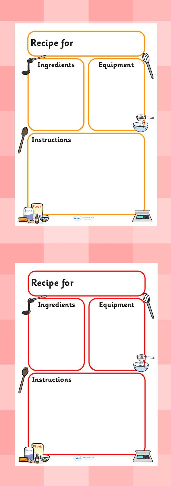 Twinkl resources recipe templates classroom printables for twinkl resources recipe templates classroom printables for pre school kindergarten forumfinder Images