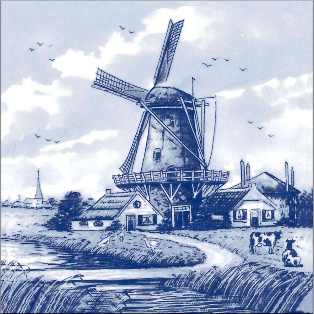 Картинка мельницы нарисованная