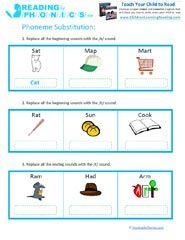 Phoneme Substitution Worksheets & Phoneme Manipulation Games | Tell ...