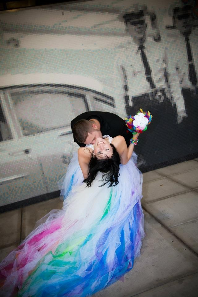 Rainbow wedding dress by sparklefide totally tutus rainbow wedding dress by sparklefide junglespirit Image collections