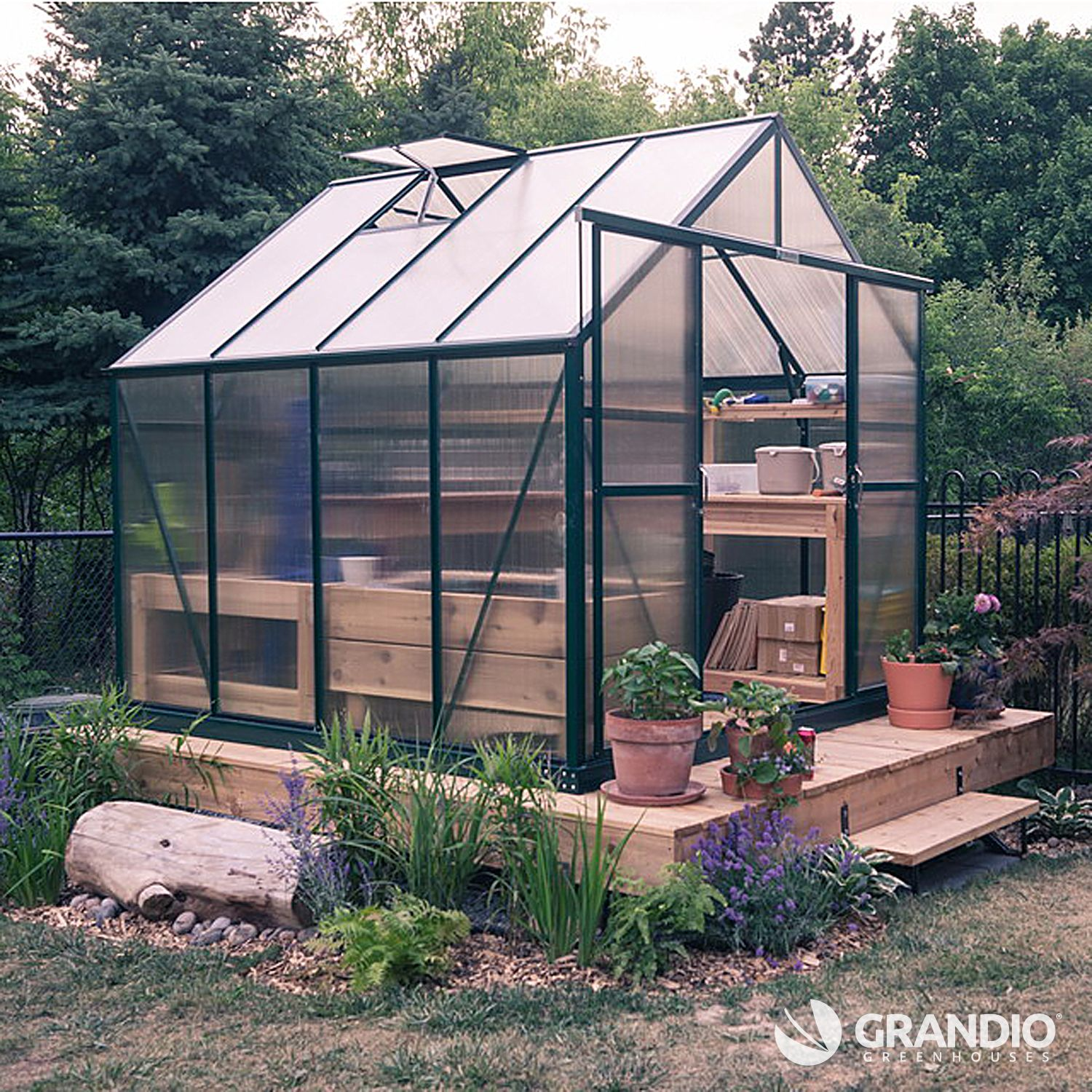 Grandio Ascent Greenhouse installed in Canada. This is a