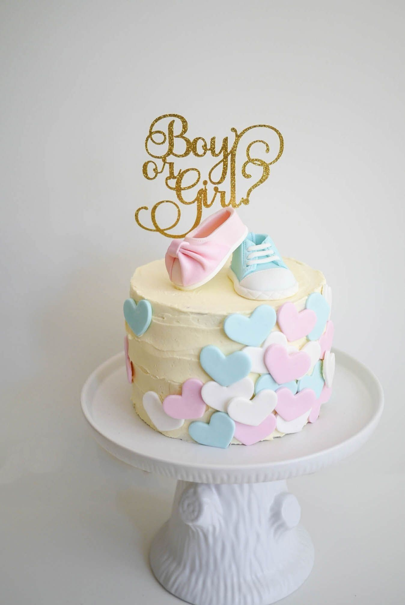 10 Beautiful Baby Gender Reveal Cake Ideas 27 Gender Reveal Party
