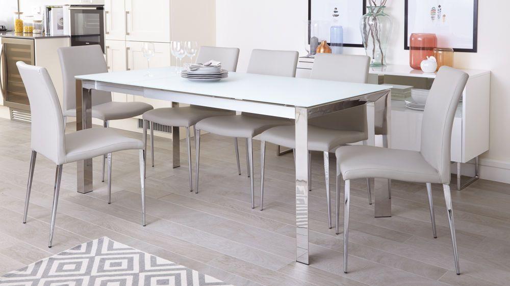 26+ White chrome dining set Ideas