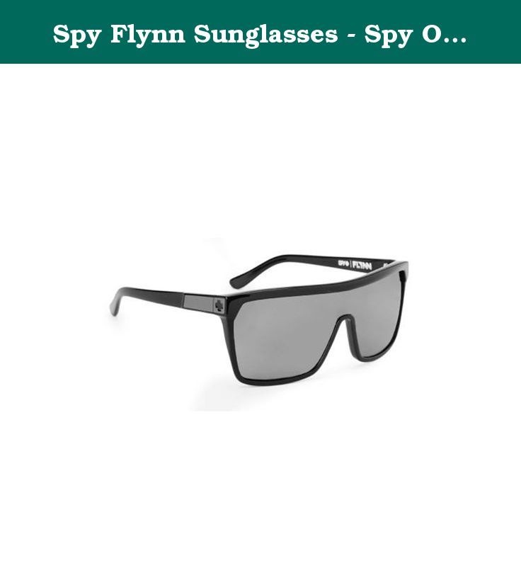 668322d73a3a Spy Flynn Sunglasses - Spy Optic Look Series Casual Wear Eyewear - Black  with Matte Black
