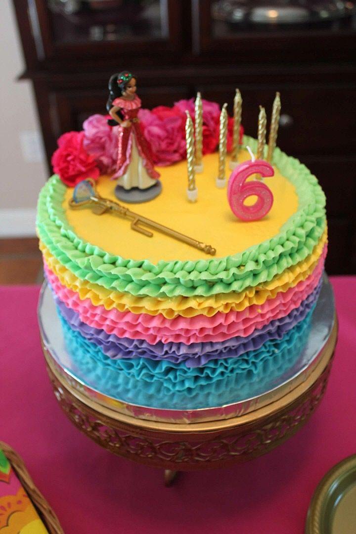 Elena Of Avalor Cake Moana Birthday Party 5th Ideas 80th