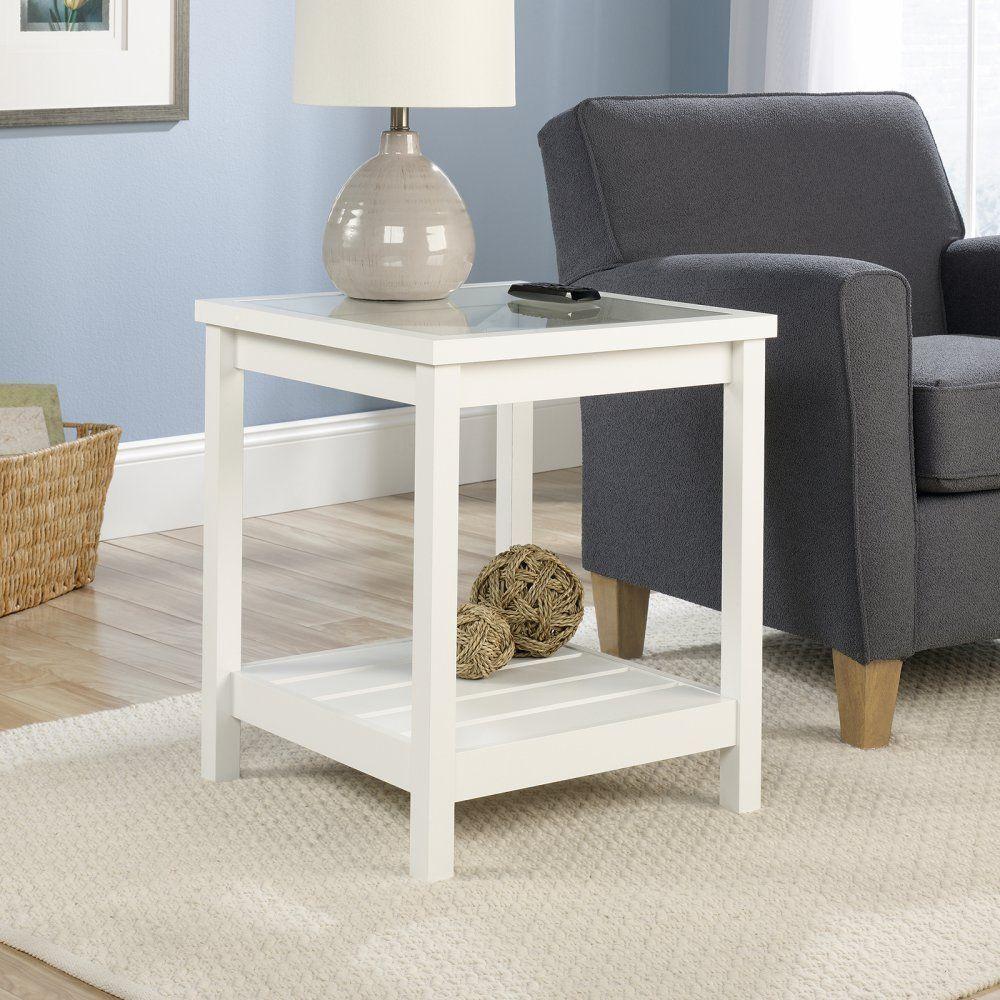 amazon com sauder cottage road side table soft white finish