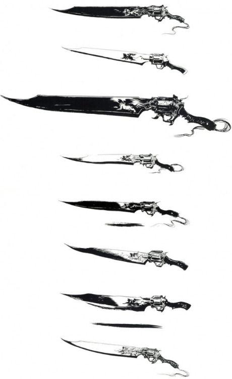 Squall Lionheart FFVIII Tattoo by OlldGreegg on DeviantArt |Final Fantasy 8 Gunblade Tattoo
