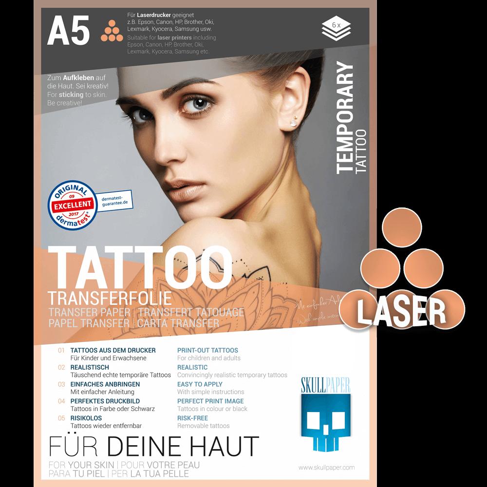 Tattoo Transferfolie Laser Skullpaper In 2020 Laserdrucker Transferfolie Tattoo Folie