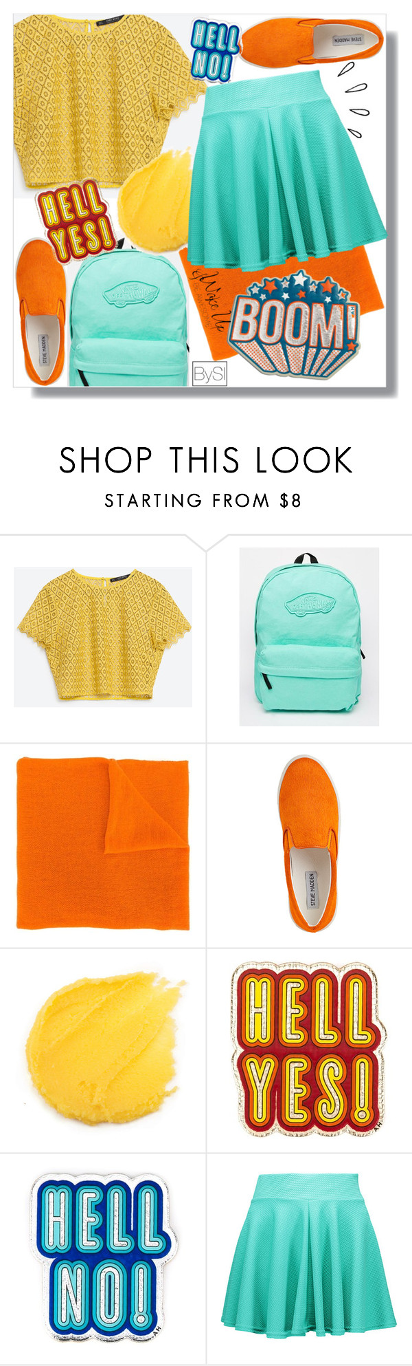 """""""Vibrant colors"""" by ivanova-sonya ❤ liked on Polyvore featuring Vans, LISKA, Steve Madden, Anya Hindmarch and Old Navy"""