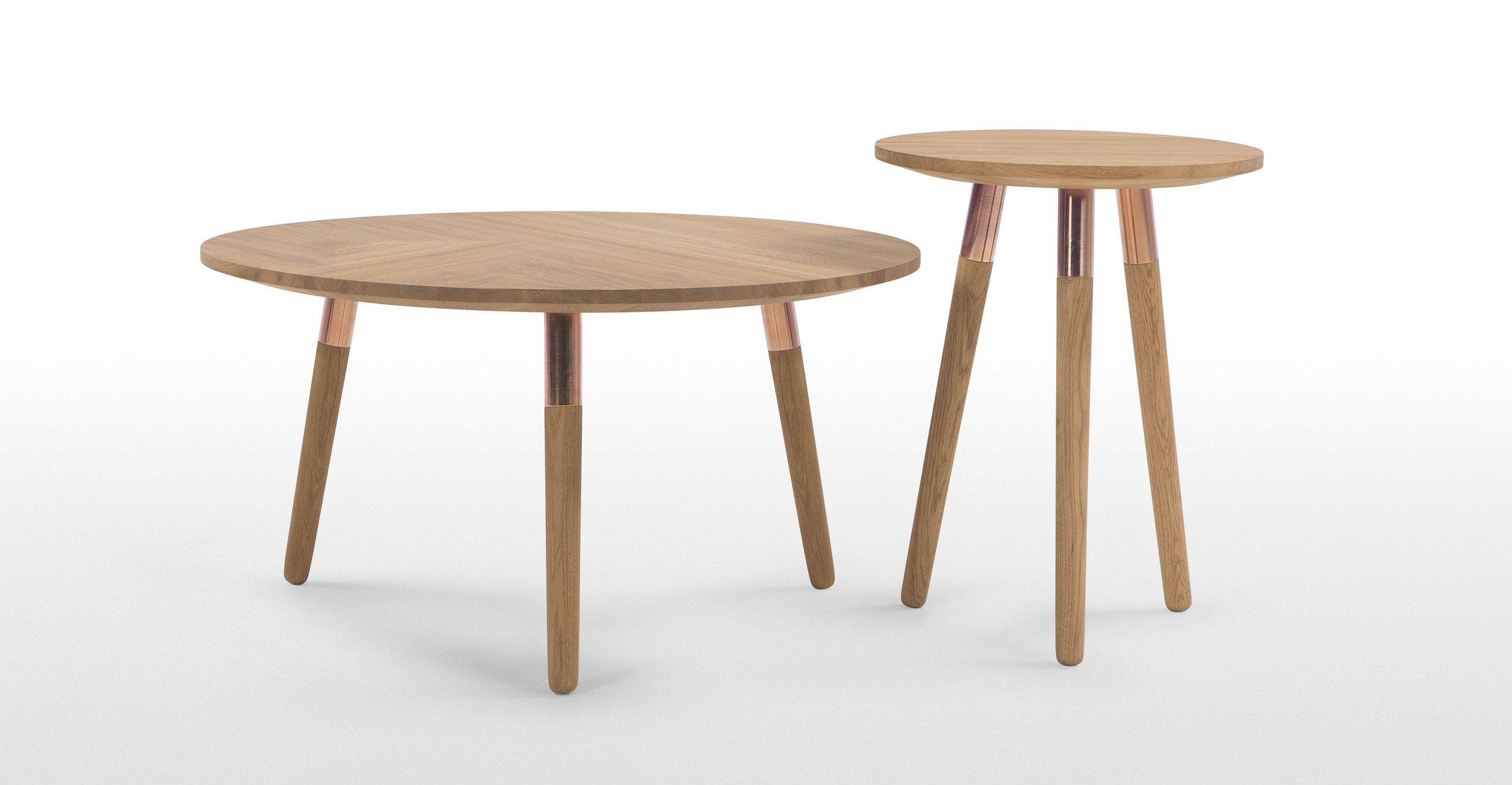 Range Round Coffee Table Oak And Copper Made Com My Favourite
