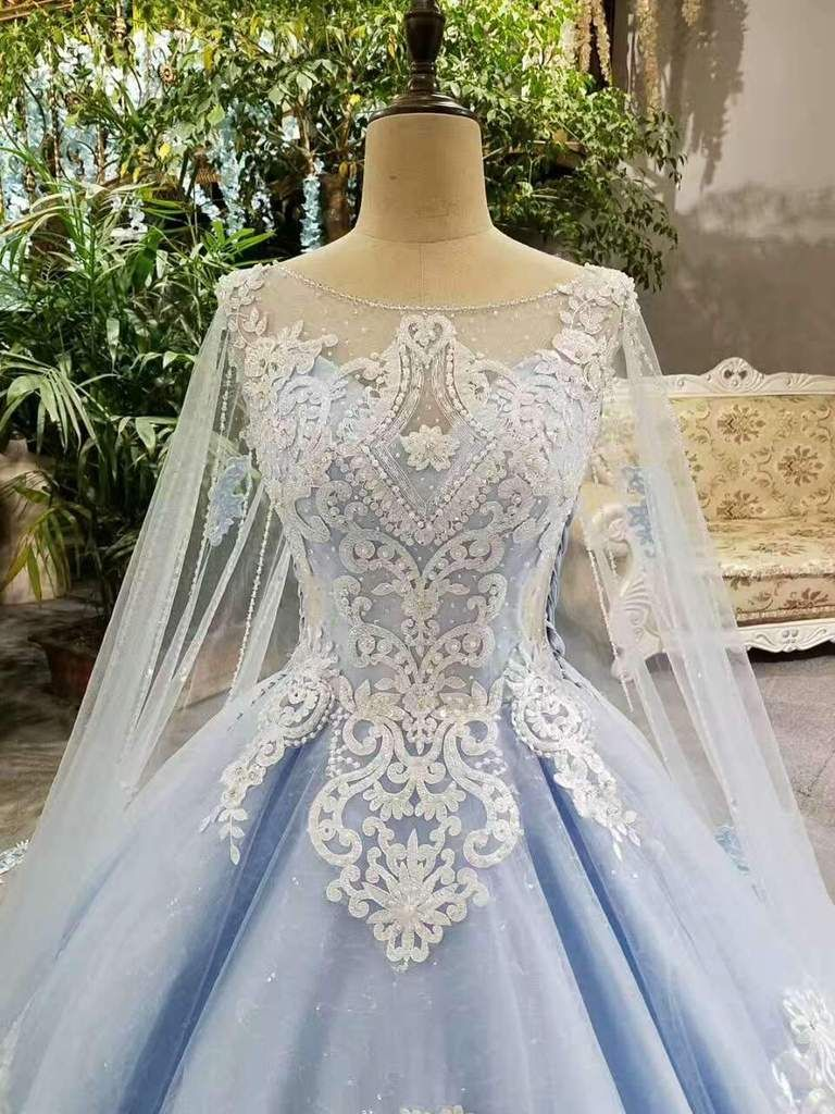 Buy cheap tulle tiffany blue wedding dresses lace up with