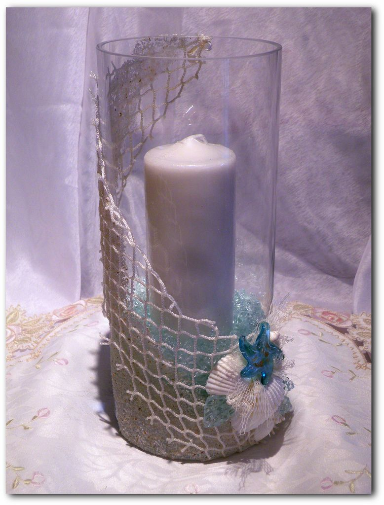 Large, Fish Net Candle Holder | by A2SeaCreations