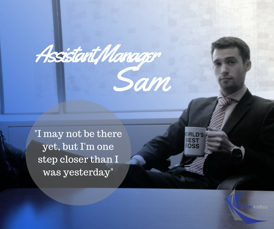 Benevolus is proud to introduce our newest Assistant Manager, Sam.  Sam is a great example, always willing to assist anyone in need, and has proven his ability to lead a team.  We couldn't be more proud to bring him onto the Management team.    Learn more about Sam next week after the promotion party.  We will hear words from the team and the CEO.  You won't want to miss it!  #promotion #recognition #celebrate