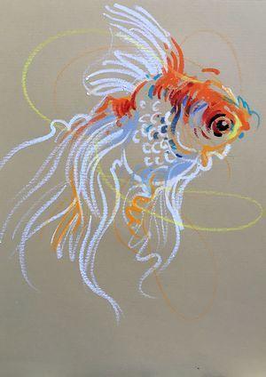 Goldfish line drawing - photo#52