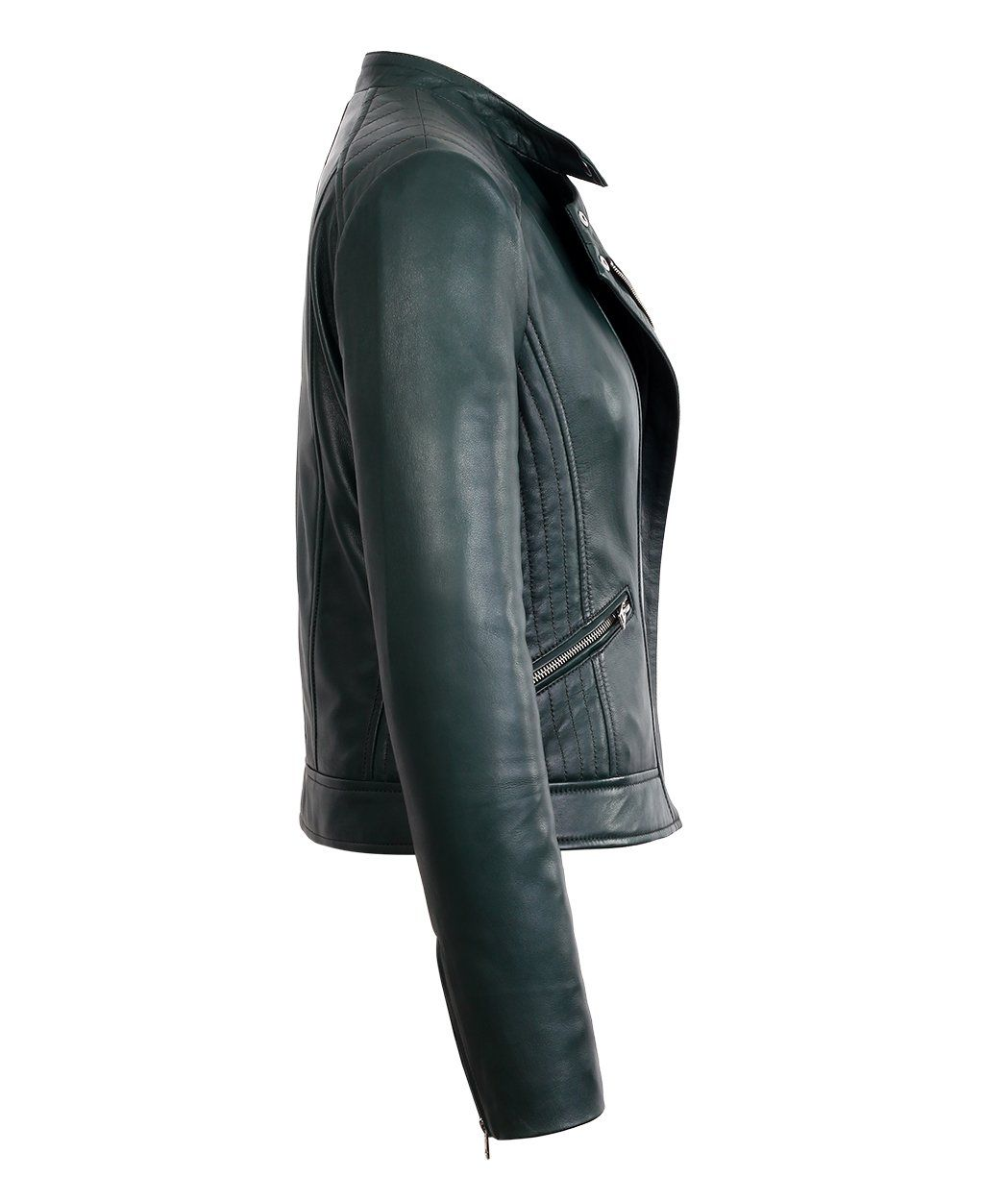 Womens Green Quilted Shoulder Moto Fashion Lambskin Real Leather Jacket Large Green See This Great Product This Real Leather Jacket Leather Jacket Jackets [ 1250 x 1049 Pixel ]