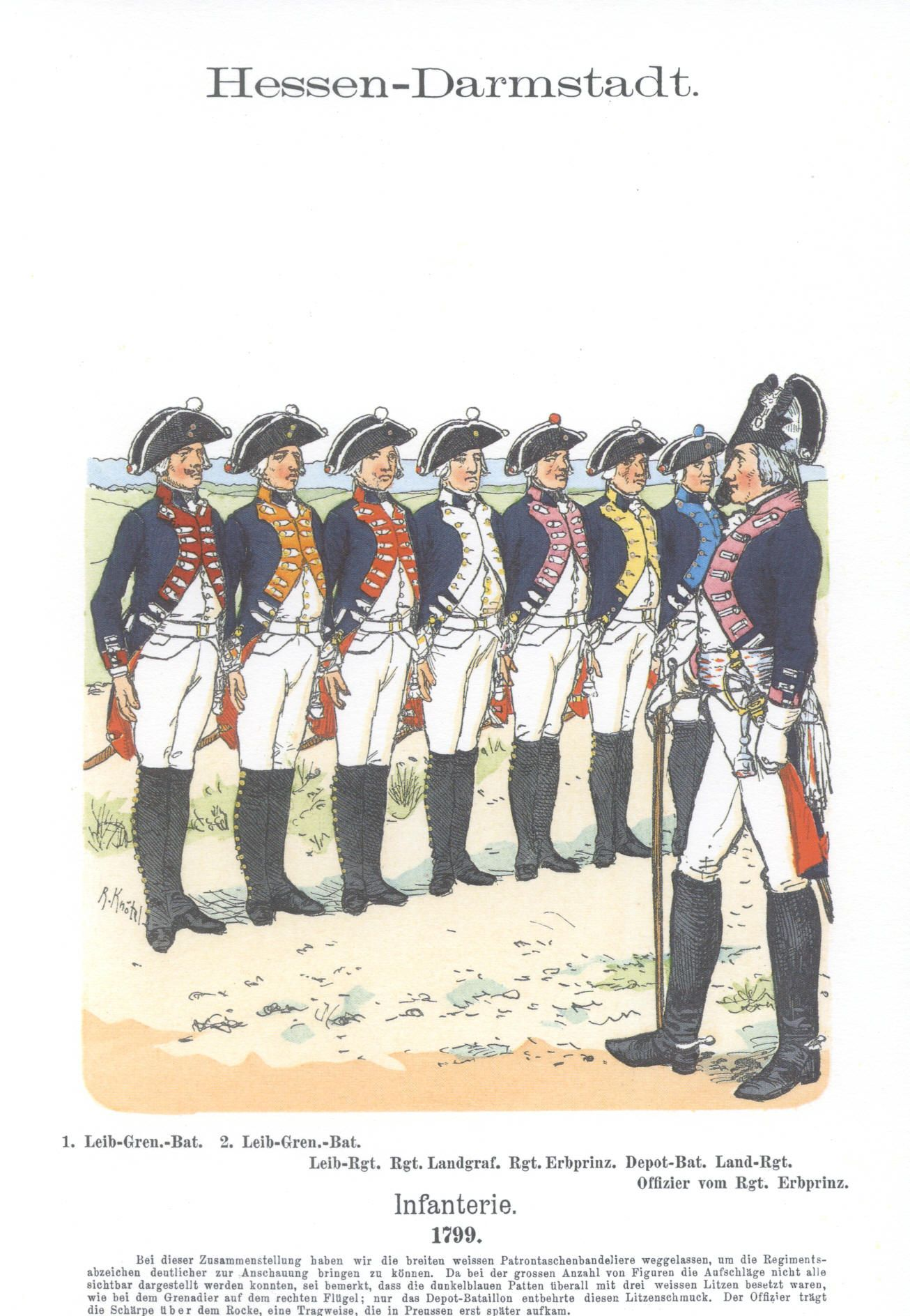 Vol 11 - Pl 28 - Hessen-Darmstadt. Infanterie. 1799.