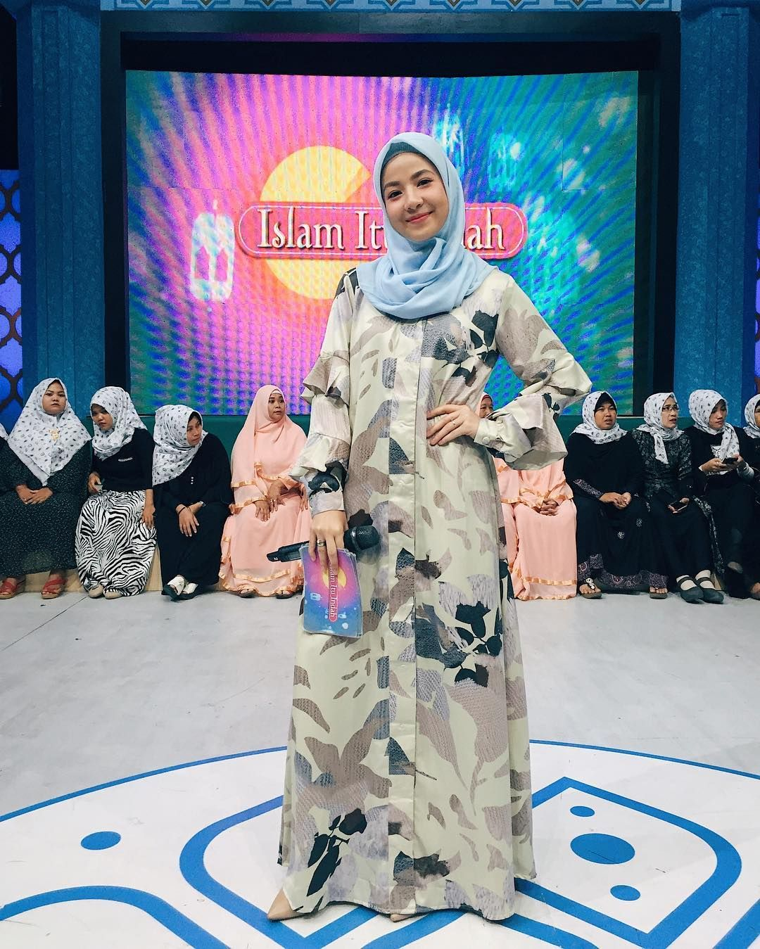 Outfit Baju Remaja Berhijab Ala Selebgram 2018 Hijab Segi Empat Biru