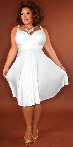 Vestidos blancos sencillos para gorditas