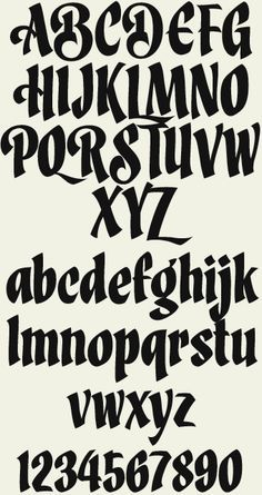 Liking the calligraphic feel to this alphabet. | Type and Style ...