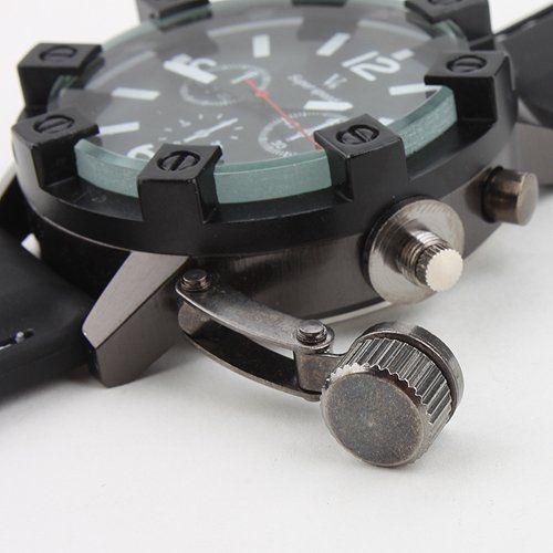 fcd63a90de2 Barato Vogue moda V6 de superfície 3D caso luxo preto Hour masculino relógio  analógico militar Man