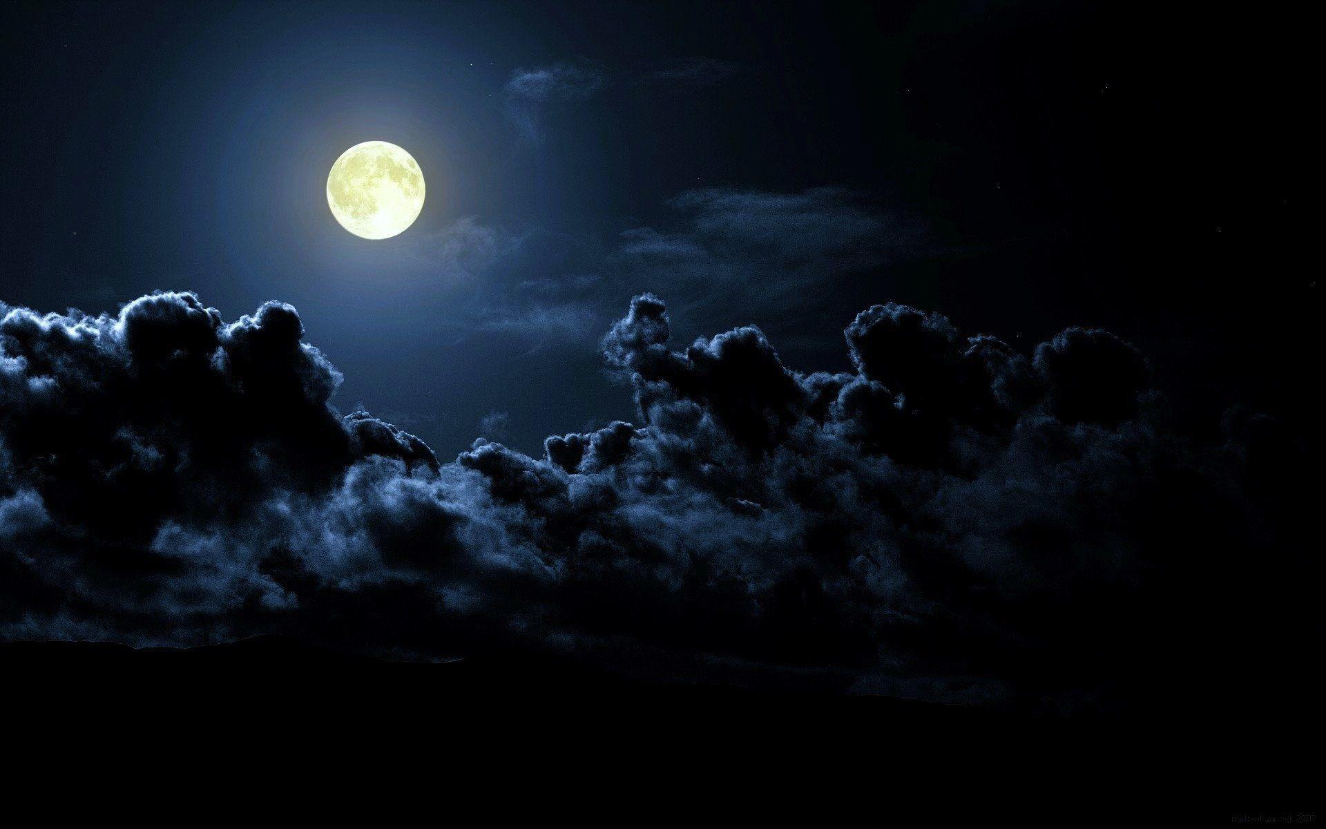Clouds Night Moon Hd Wallpaper Night Life In 2018 Pinterest