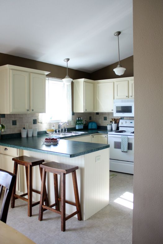 Finally How To Paint Cabinets & Trim  Cabinet Trim Organizing Custom How To Paint Kitchen Cabinets White 2018