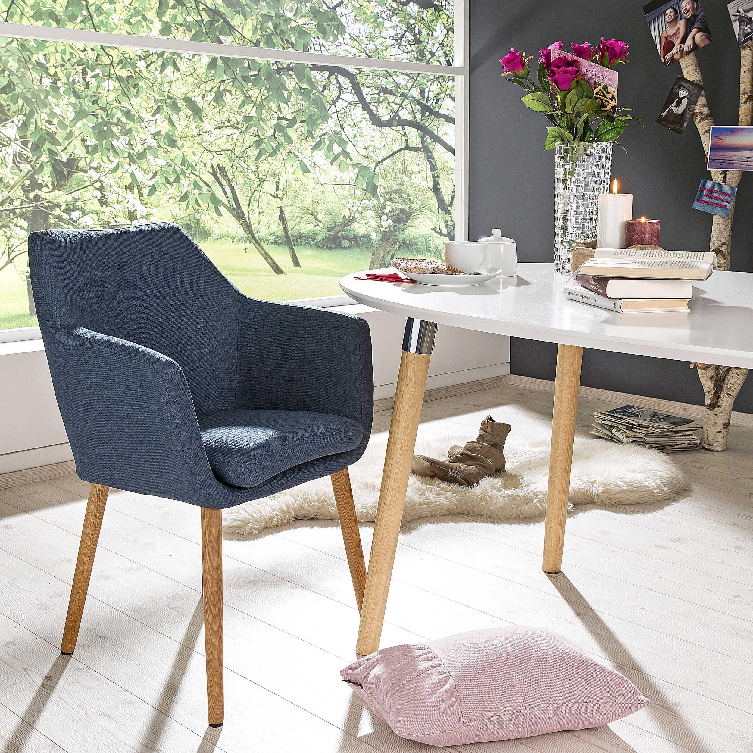 stuhl petrulli, hellgrau - 4 fuß stühle - stühle & freischwinger