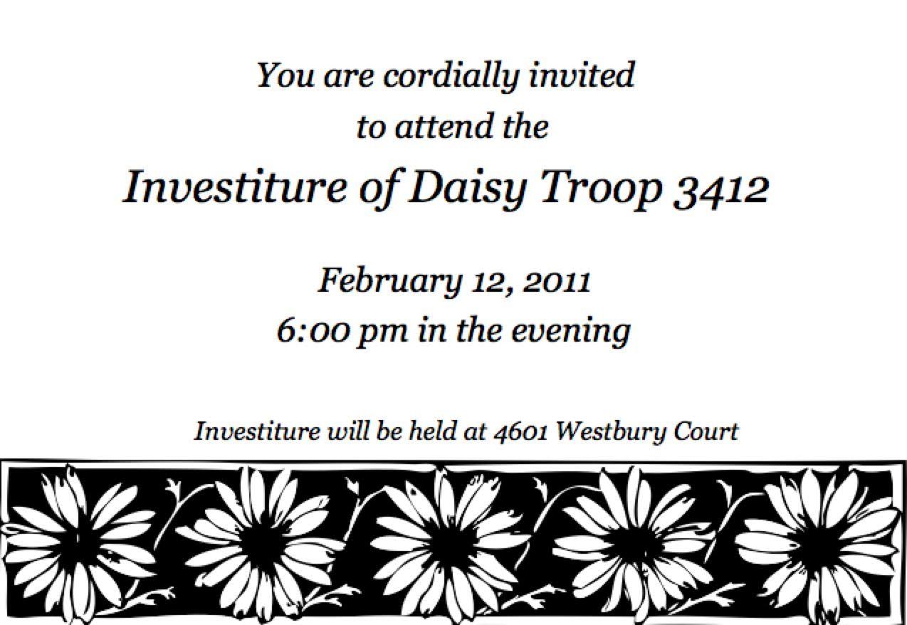 Daisy Investiture Invitations Template