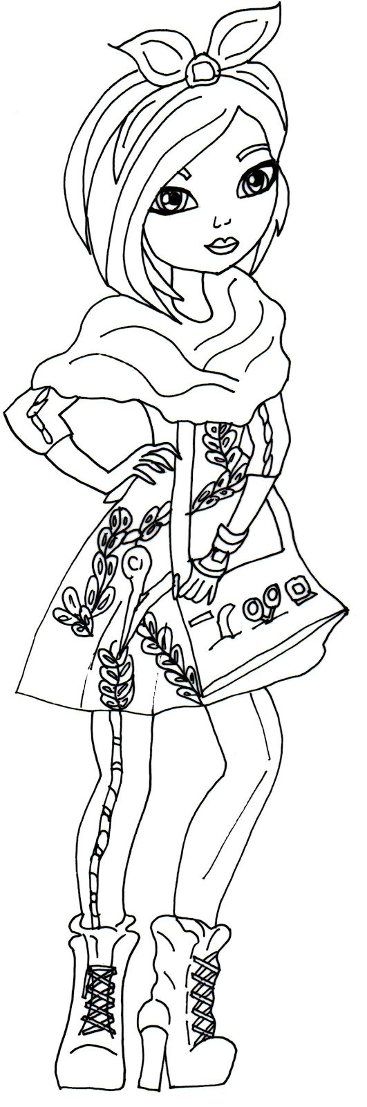 Free Printable Ever After High Coloring Pages Holly OHair