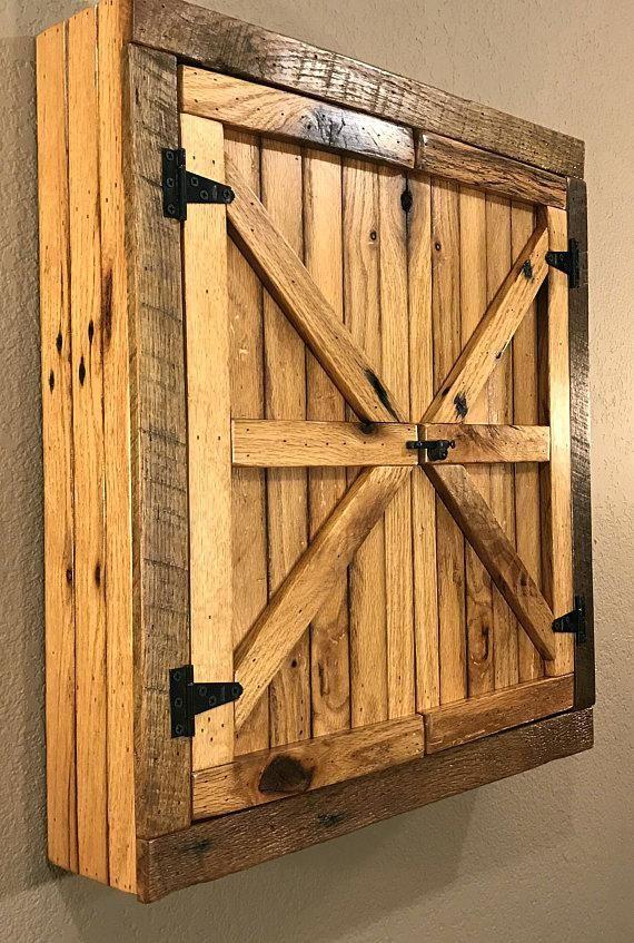 Barnwood Cabinet Door Natural Rustic Dartboard Cabinet Reclaimed