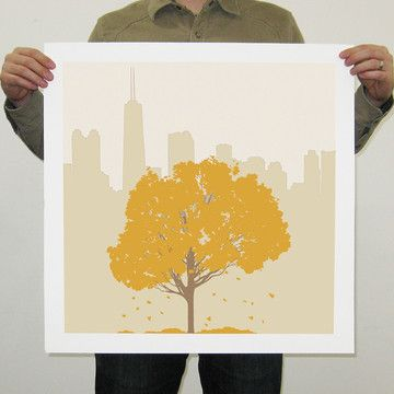 A warm golden design for the Chicago-lovers