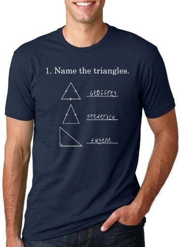 Name the Triangles T Shirt funny Math triangle tee S Crazy Dog ...