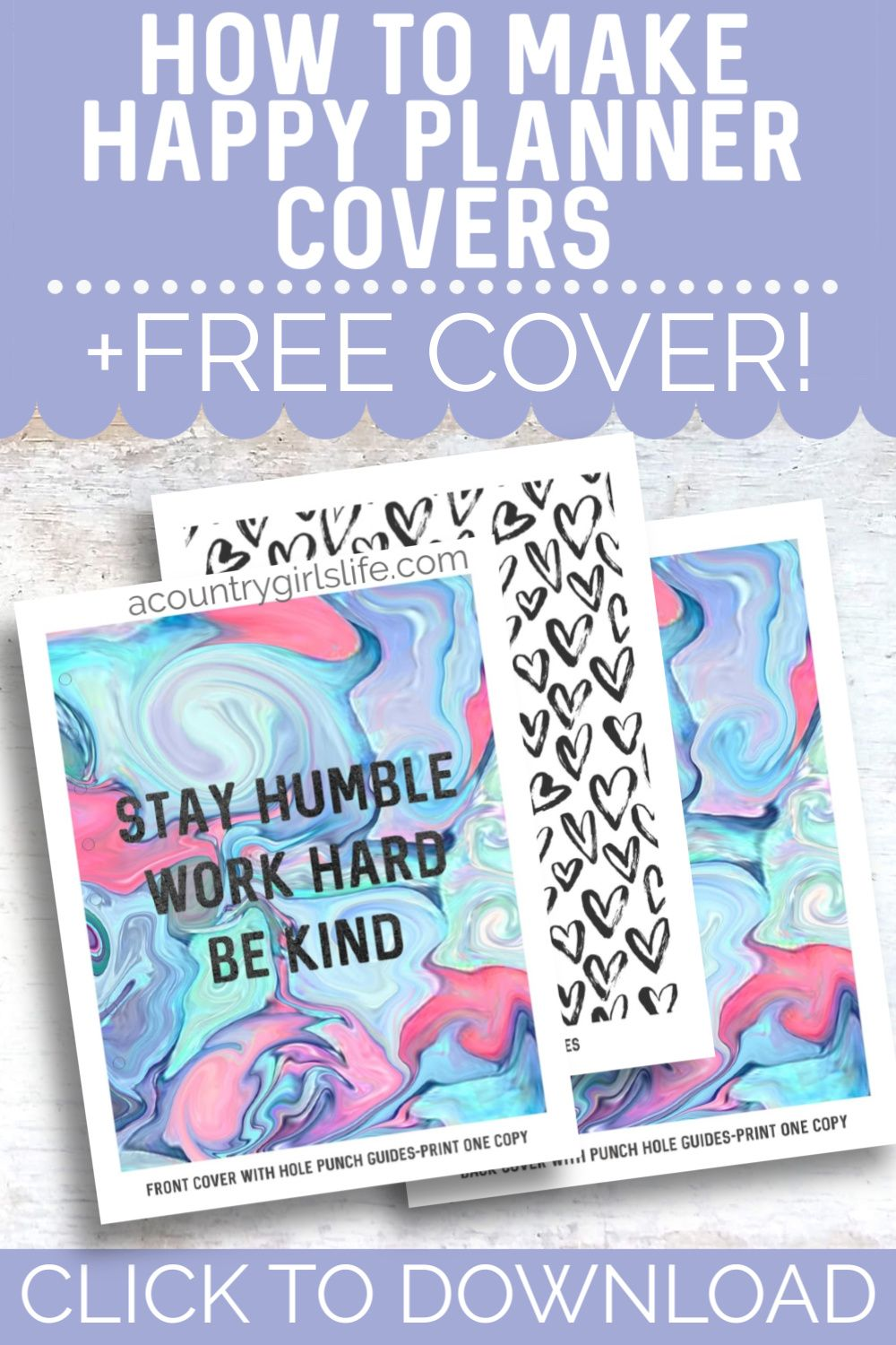 Diy Happy Planner Covers Free Printable Covers A Country Girl S Life In 2020 Happy Planner Cover Happy Planner Printable Planner Cover