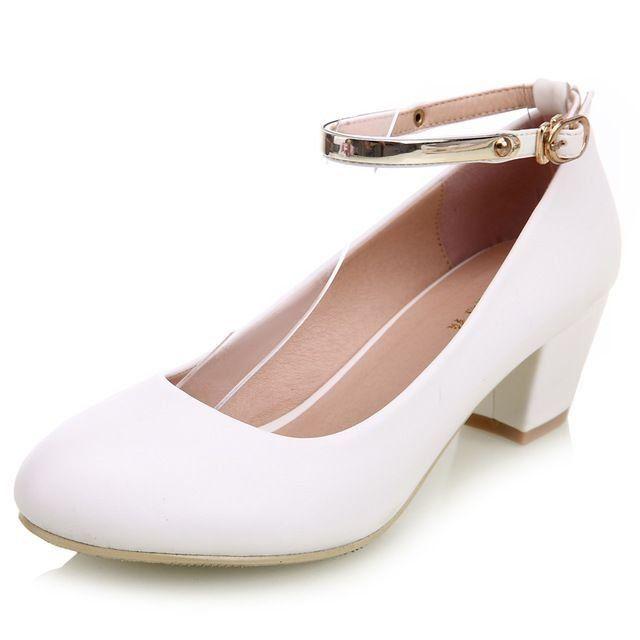 1a4864c02 YALNN Sapato de Salto Médio Quadrado Feminino   Vestidos   Sapatos ...