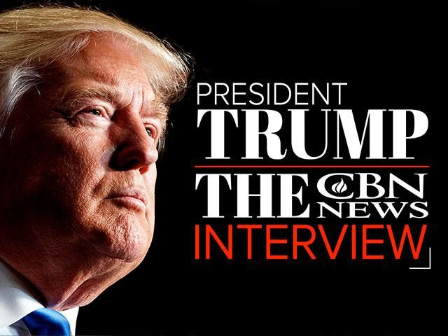 CBN's David Brody satdown for an exclusive, one-on-one interview with President Donald Trump. They spoke about issues ranging from the media, helping persecuted Christians and the need for prayer.
