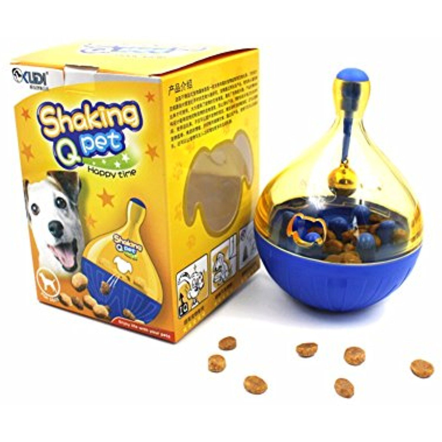Russell 4 inches dog food dispenser interactive iq treat
