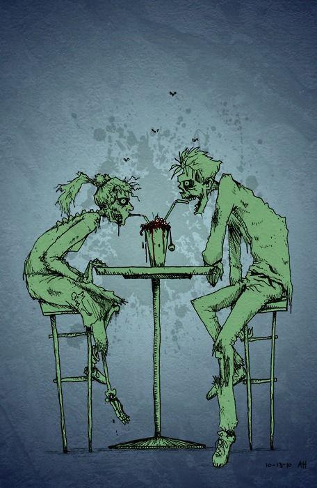 Zombie Love Zombies Zombis Dibujos Tatuajes De Parejas
