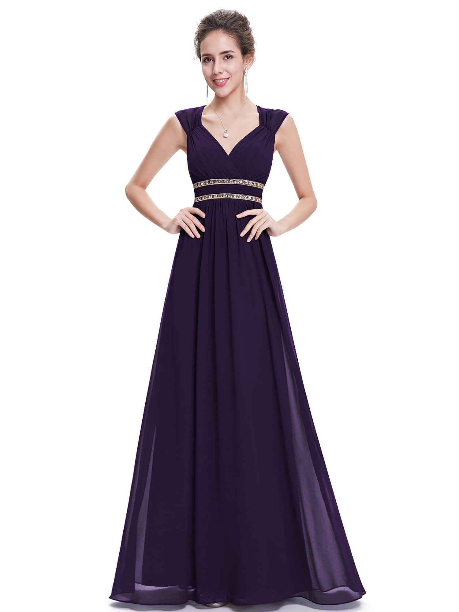 5fd6ea3a99 Ever-Pretty Women s Elegant Long V-neck Evening Party Maxi Dresses for  Women 08697 (Aqua 4 US) Long