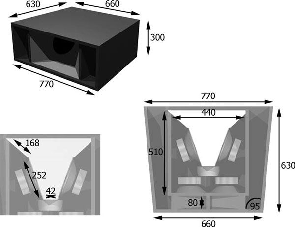 The Design Of A Line Array Speaker Cabinet Which Is Versotile And Cheap Speaker Idea