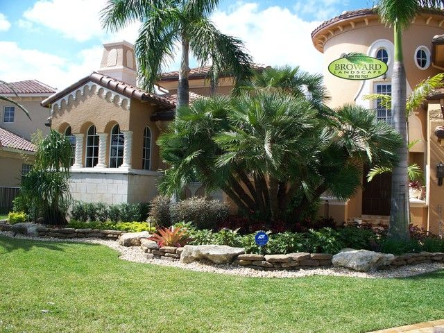 Palm Trees In Front Yard Of Houses Design Ideas