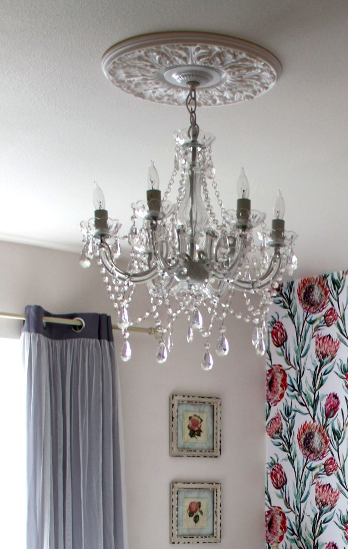 Crystal Chandelier White 23in With Images White Chandelier