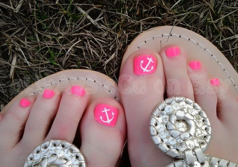 Ortment Of Anchor Toenail Decals In Color By Alwaysccd