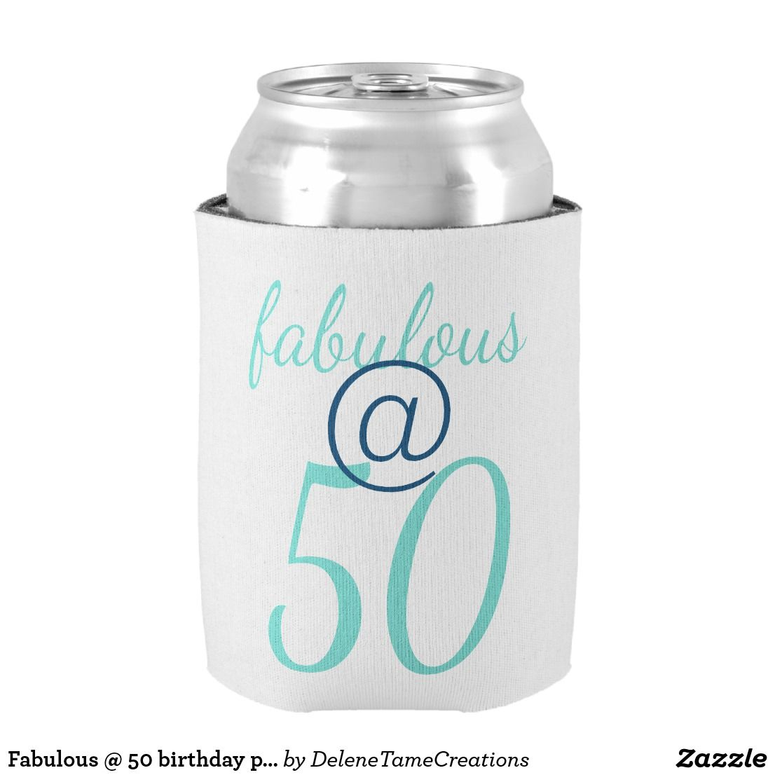 Fabulous 50 Birthday Party Can Cooler