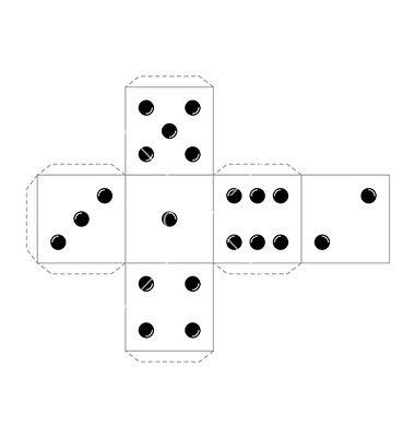Board Game Cube Template Vector On Vectorstock  Board Game
