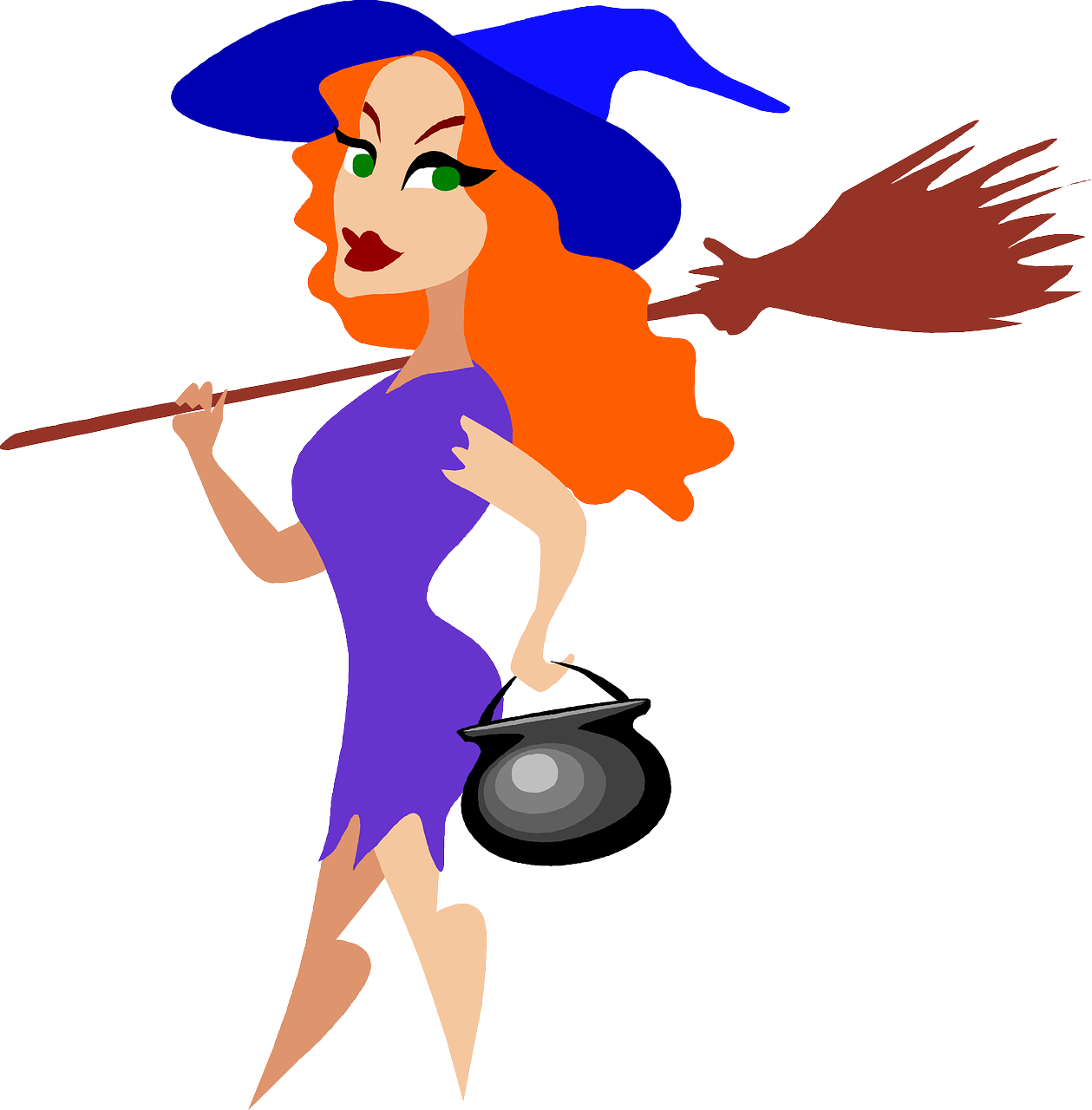 Pin by Udash on People Cartoon witch, Halloween logo