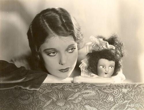 hollyhocksandtulips:  Loretta Young…and one scary doll